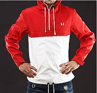 Размер S Мужская куртка анорак FP красно-белый