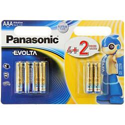 Батарейка Panasonic EVOLTA AAA BLI(4+2) ALKALINE LR03EGE/6B2F 6шт