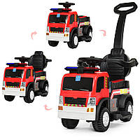 Толокар электромобиль пожарная машина с пультом 3 в 1, фото 1