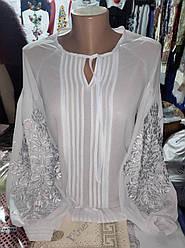 """Блузка білим по білому """"Олена"""""""