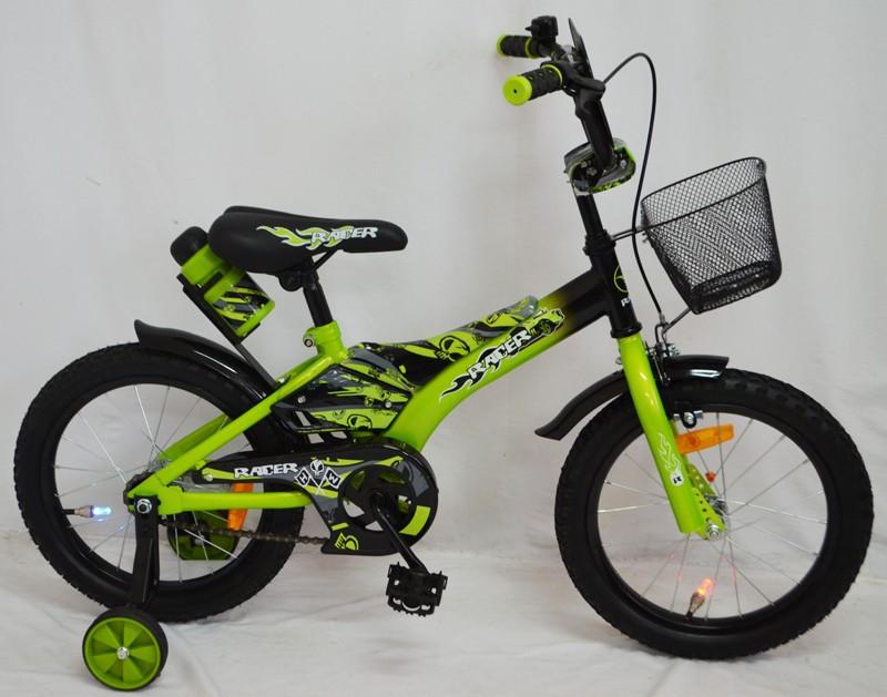 Детский двухколесный велосипед Racer салатовый 18 дюймов