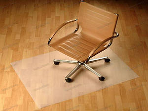 Ковер защитный под кресло 100х140см перламутр 0,5мм, прямые углы