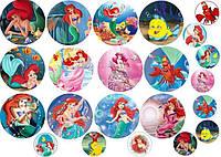 Вафельная картинка принцессы диснея русалочка