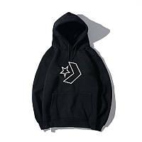 Худи Converse One Star Logo черное, серое, розовое, унисекс (мужское, женское, детское)
