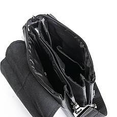 Сумка чоловіча з екошкіри чорного кольору DR. BOND (20*17*5 см) GL 213-1 black, фото 2
