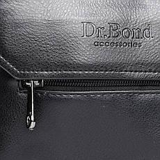 Сумка чоловіча з екошкіри чорного кольору DR. BOND (20*17*5 см) GL 213-1 black, фото 3