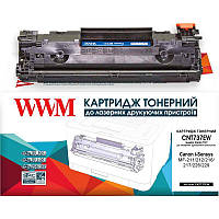 Картридж WWM (CNT737EW) HP LJ M201/225/Canon MF211/232/247 Black (аналог CF283X/Canon 737)