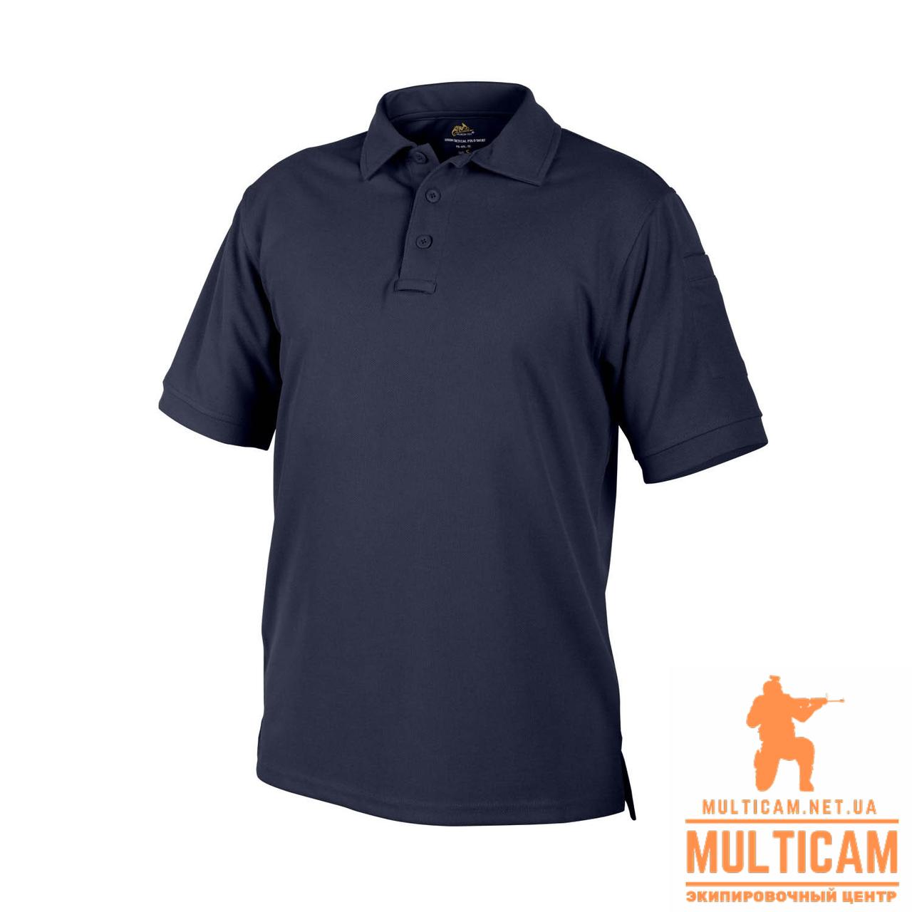 Термофутболка поло Helikon-Tex® UTL Polo Shirt - TopCool® - Navy Blue