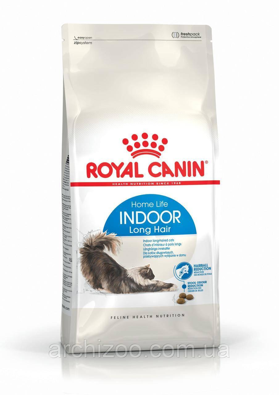 Royal Canin Indoor Long Hair 2кг (длинношерстные старше 1 года, живущие в помещении)