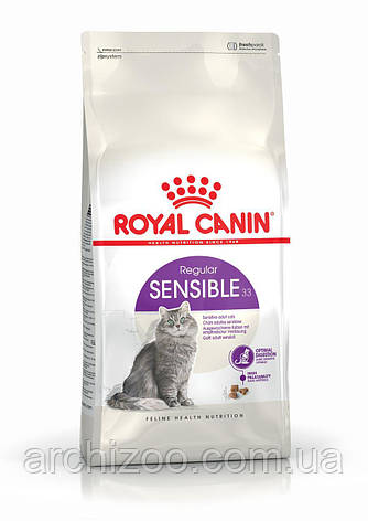 Royal Canin Sensible 4кг для взрослых кошек с чувствительным пищеварением, фото 2