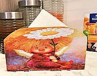 Салфетница на стол, ангел, подарок для настроения Ручная работа