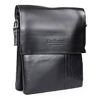 Стильная мужская сумка из экокожи DR. BOND (23*19*5 см) GL 305-2 black