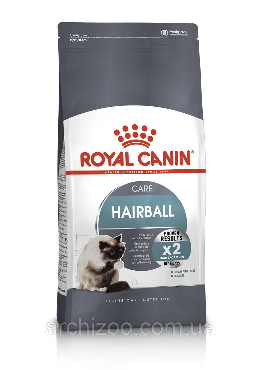 Royal Canin Hairball 0,4кг для взрослых кошек с эффектом выведения шерсти.