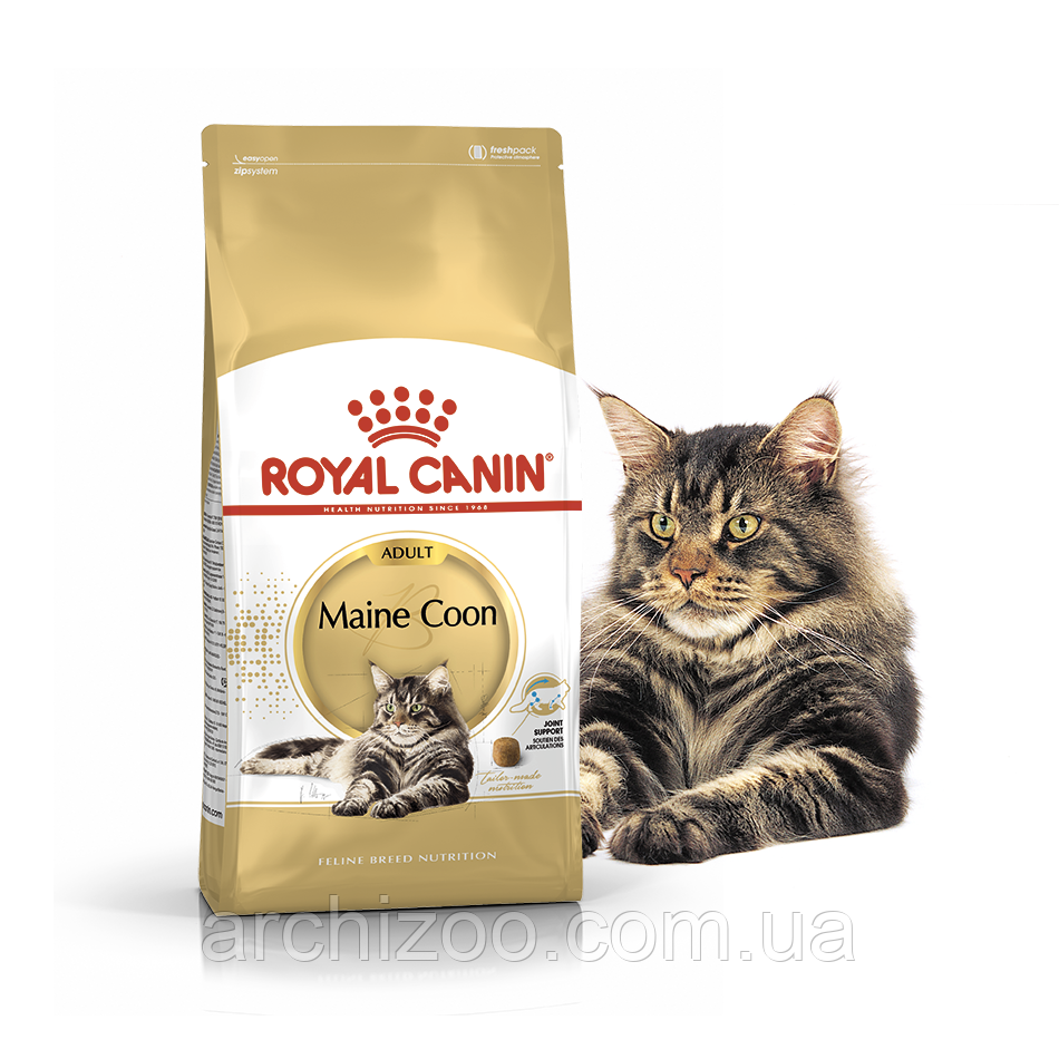 Royal Canin Maine Coon 0,4кг для кошек породы Мейн-кун старше 15 месяцев