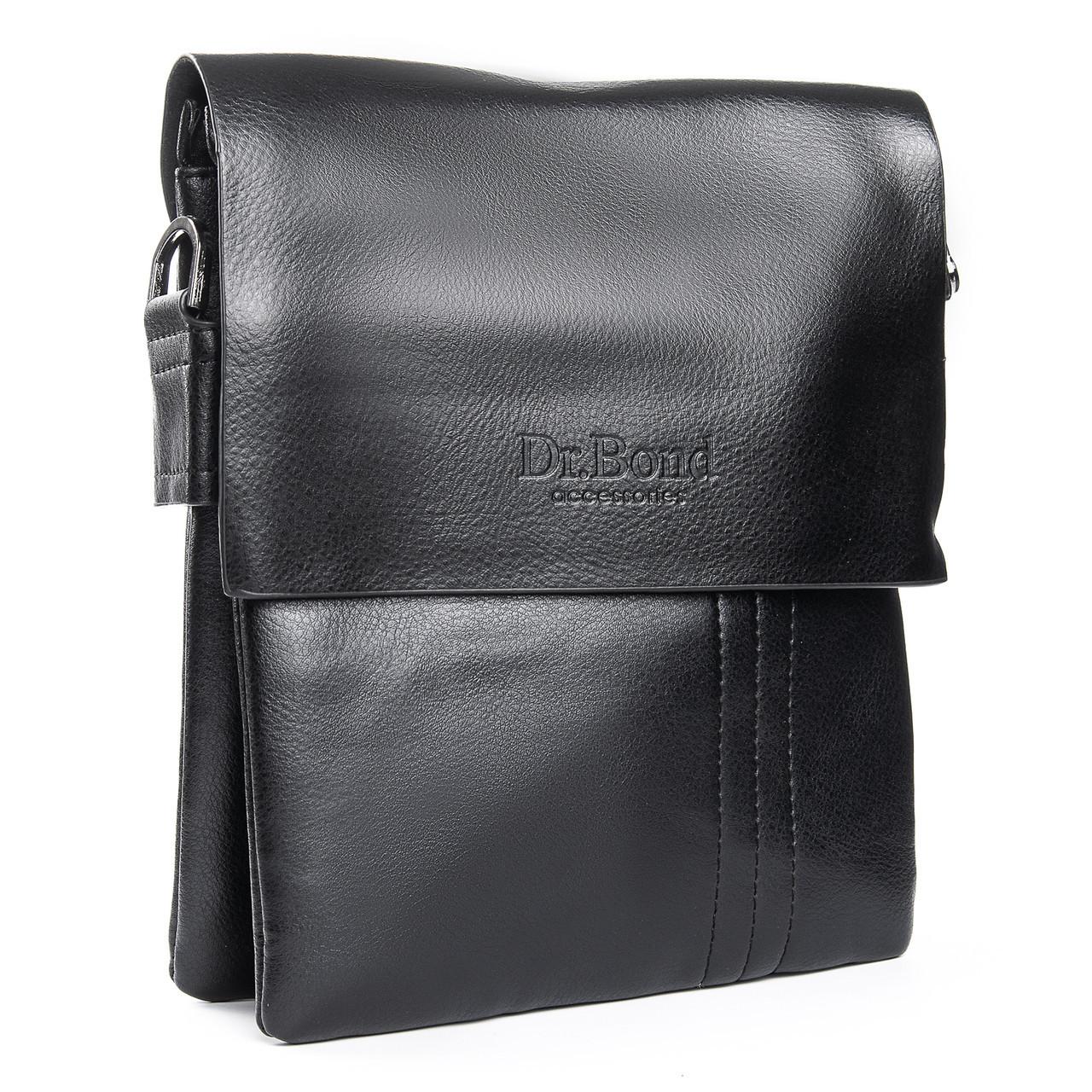 Мужская сумка из экокожи классическая DR. BOND (23*19*5 см) GL 305-2 black