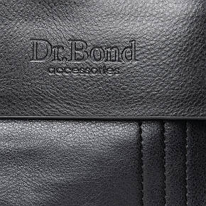 Чоловіча сумка з екошкіри класична DR. BOND (23*19*5 см) GL 305-2 black, фото 2
