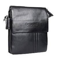 Мужская черная сумка из экокожи DR. BOND (19*16*5 см) GL 305-0 black