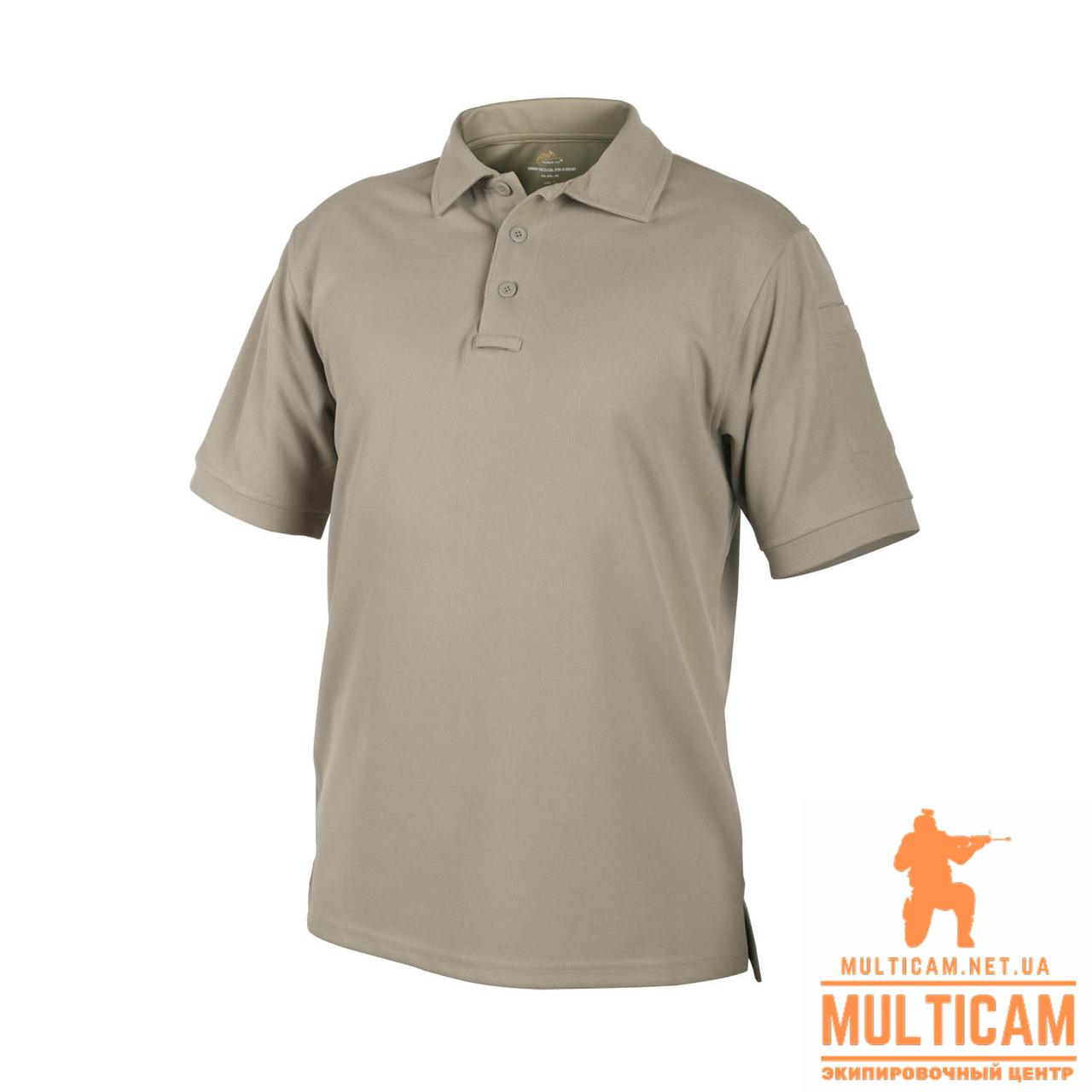 Термофутболка поло Helikon-Tex® UTL Polo Shirt - TopCool® -  Khaki