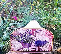 Салфетница на стол, лаванда, подарок для настроения Ручная работа