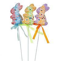 """Декор на палочке """"Конфетные кролики"""" 5 см, в упаковке 3шт. (8108-033)"""
