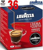 Кофе в капсулах Lavazza A Modo Mio Crema e Gusto (Int = 12; 36 капсул; Espresso; 30% Arabica + 70% Robusta)