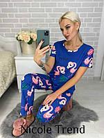Женская пижама со штанами Фламинго хлопок 46-48 размеры есть цвета