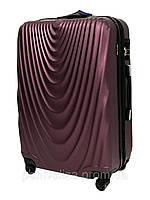 Дорожный чемодан пластиковый Wings 304 большой L 4 колеса Burgundy