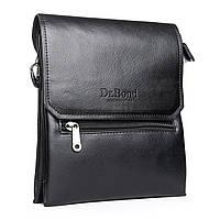 Практичная мужская сумка из экокожи DR. BOND (23*19*5 см) GL 213-2 black