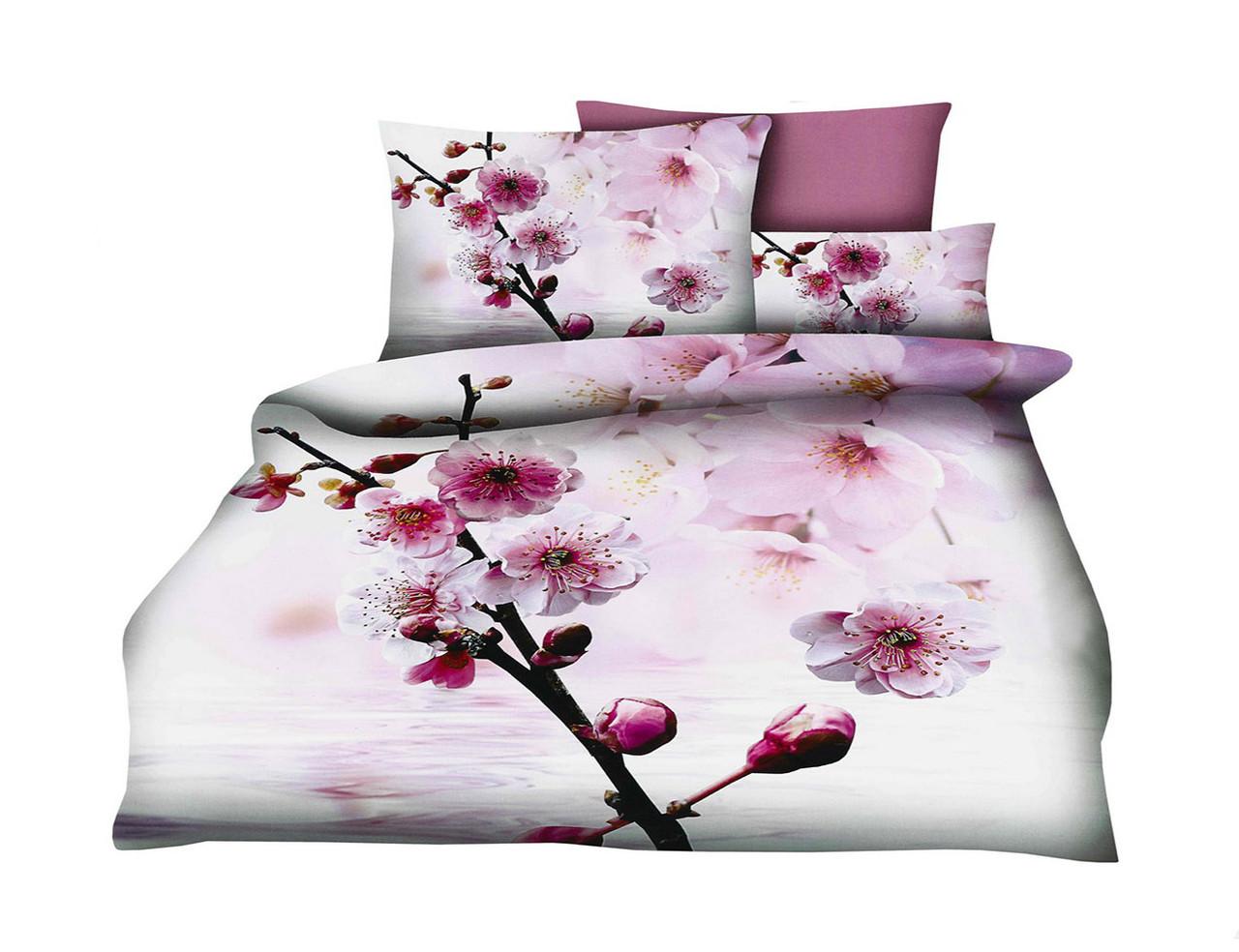 Комплект постельного белья Микроволокно HXDD-630 M&M 4198 Кремовый, Розовый