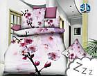 Комплект постельного белья Микроволокно HXDD-630 M&M 4198 Кремовый, Розовый, фото 2