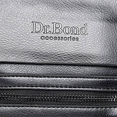 Сумка мужская классическая из экокожи DR. BOND (23*19*5 см) GL 315-2 black, фото 2