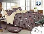 Комплект постельного белья Микроволокно HXDD-776 M&M 4211 Коричневый, Бежевый, фото 2