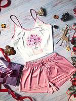 Шелковые женские пижамы собственного производства. Украина. Разный принт, фото 2