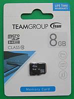 Карта памяти micro SD Team 8GB (10 class)