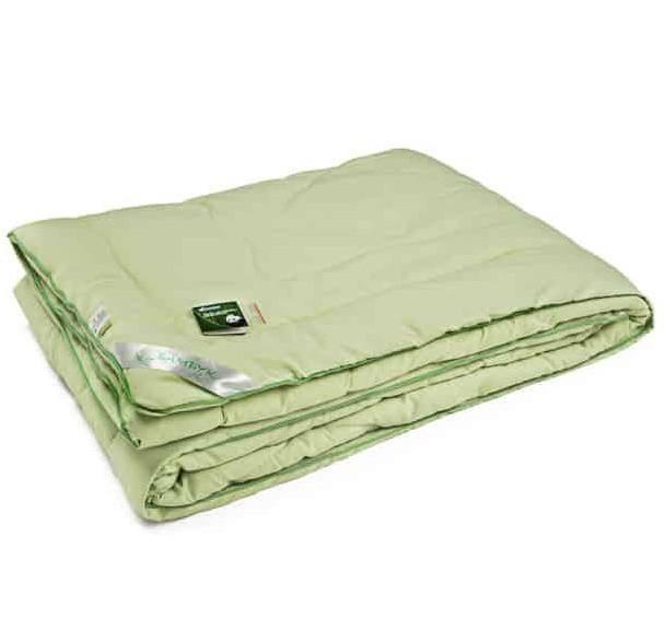 Одеяло  Бамбук полуторное  140x205 демисезонное 250 г/м2 Руно (321.52БКУ_Салатовий)