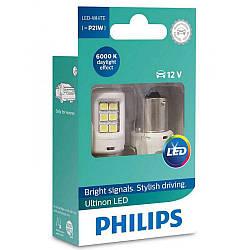 Габарит LED Philips Ultinon P21W 12V White 11498ULWX2 (2шт.)