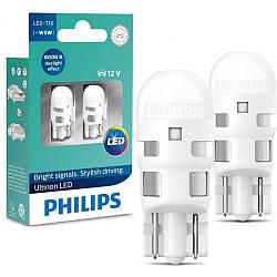 Габарит LED Philips Ultinon T10-W5W LED 6000K 12V 11961ULWX2