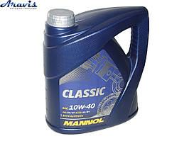 Масло моторное гидросинтетика MANNOL Classic 10W-40 4L SN/CF