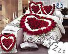 Комплект постельного белья Микроволокно HXDD-601 M&M 5201 Белый, Красный, фото 2