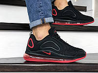 Кроссовки мужские Nike Air Max 720 черные с красным, фото 1