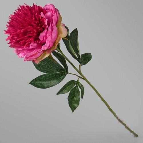 Пион красно-розовый искусственный 85 см
