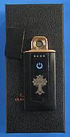 USB-зажигалка спиральная Z-030 (рисунок, сенсорная кнопка)