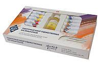 Подарочный набор масляных красок Мастер Класс 12*18 мл+масло лляное, кисти 2 шт