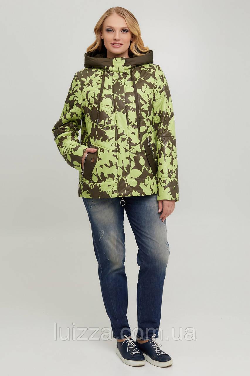 Куртка женская, оливковый 50-60р