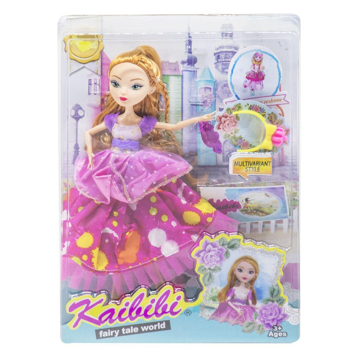 Кукла KAIBIBI Fairy Tale World с аксессуарами малиновый JIA YU TOY