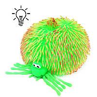 Игрушка антистресс Паук Гигант со светом зелёный