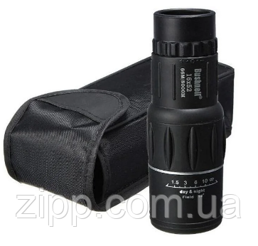 Мощный монокуляр монокль BUSHNELL 66М/8000М 16x52 с чехлом 16-ти кратное увеличение