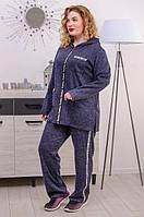 Женский спортивный костюм большого размера Квин 3 цвета (54-68)