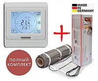 Теплый пол Hemstedt DH 600Ват/4 м² нагревательный мат с сенсорным программируемым терморегулятором E91