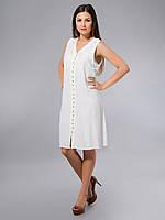 Платье -халат, белое, хлопок, Индия, на 44-52 размеры 44